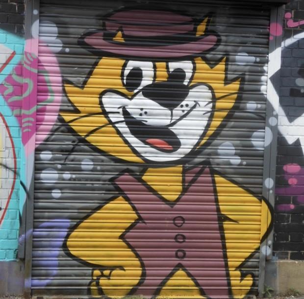 brighton topcat streetart